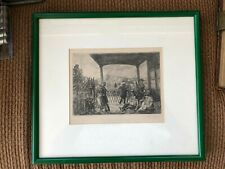 """Very Fine JOHN SLOAN Etching Signed Matted & Framed """"Wake on the Ferry"""""""