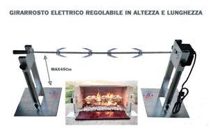 GIRARROSTO ELETTRICO PER CAMINETTO BARBECUE REGOLABILE