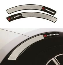 2x Dodge Carbon Fiber Fender Arch Trim Sticker Protector Car Wheel Eyebrow Strip