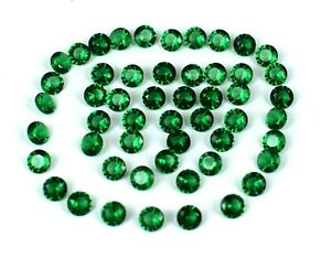 Colombian Emerald 10.20 Ct/50 Pcs Natural Loose Gemstone Lot Round AGI Certified