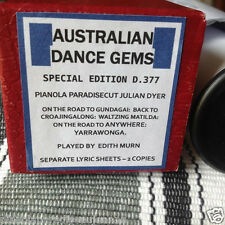 AUSTRALIAN DANCE GEMS 5 SELECTIONS Road to Gu NEW !!  PIANOLA  PLAYER PIANO ROLL
