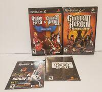 Guitar Hero 1, 2, 3 Aerosmith Legends of Rock Playstation 2 ps2 Games Lot