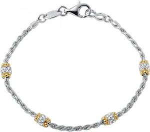 "Charles Garnier Capponi 7.25"" Yellow 925 Silver Chain Bracelet Created Corundum"