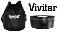 Pro HD4 Vivitar Optics 2.2x Telephoto Lens For Fujifilm Finepix HS50EXR HS35EXR