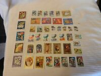 Lot of 44 Hungary Stamps, from 1980-1983 Space, Cartoons, Birds, Zeppelin, More