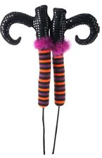 "Raz 26"" POSABLE WITCH LEGS (Black Shoes Purple Cuff) Halloween H3412061 1 pair"