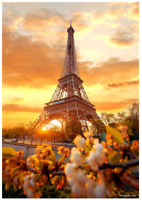 """Jigsaw Puzzles 1000 Pieces """"Sunset in the Eiffel Tower"""""""