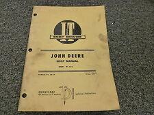 John Deere 2510 Row Crop Farm Tractor Shop Service Repair Manual Book Jd27