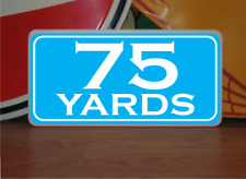 Vintage 75 Yard Marker Metal Sign 4 Golf Club Yardage sign for Golf Course