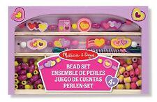 Melissa & Doug Happy Hearts Wooden Bead Set Childrens Arts Craft Kit