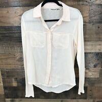 Michael Stars Women's Pink Modal / Supima Blend Long Sleeve Dress Shirt Size 0