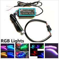 Pair 10Cm 12LED Devil Eye Demon App Remote Control RGB Headlight Lamp Lights Kit