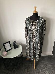 BNWT Oversized Zara Dress Size S (UK 10-12-14) - Autumnal - Smock Trapeze Dress