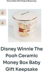 Disney Baby MAGICAL BEGINNINGS CERAMIC MONEY BANK GIFT BOXED - Winnie the Pooh