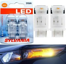 Sylvania LED Light 3156 Amber Orange Two Bulbs Rear Turn Signal Replacement Lamp