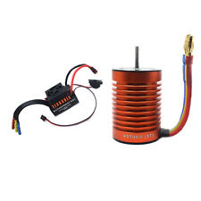 9T 4370KV Brushless Motor & 60A ESC Speed Controller Combo Kit For 1/10 RC Car