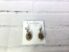 Jessica Simpson Boho Basics Brown & Taupe Stone Gold Tone Drop Earrings