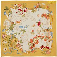 SALVATORE FERRAGAMO yellow RENAISSANCE Masters FIRENZE MUSEI scarf NEW Authentic