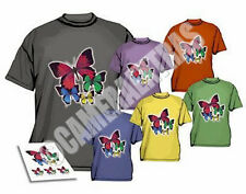 Iron On T-shirt Transfer Paper for DARK FABRICS  Inkjet Printer X 5 Sheets UK