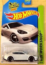 Hot Wheels  2015 HW Workshop White Porsche Panamera 186/250