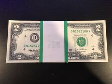 2003A Two Dollar ($2) Bill Uncirculated Consecutive Sequential BEP Wrap - 1 Note
