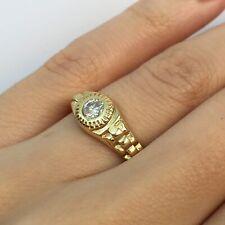 Set Right Hand Ring in 14k Gold 0.25 Ct Round Brilliant Cut Diamond Bezel
