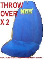 2 BLUE NOS THROW OVER,SEAT COVER,FORD FESTIVA,FOCUS,LTD,FALCON,TERRITORY,LASER
