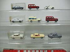 ai737-1 #9X Wiking H0 Car: Mercedes MB 190/350/500 etc. +Porsche + BMW +