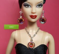 S860 Doll Jewelry For Silkstone Barbie Fashion Royalty Swarovski