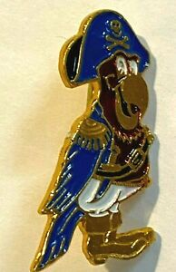 Vintage Collectible Pin Parrot Pirate with boots, hat skull and cross bones