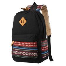 Shoulder Canvas Backpack Rucksack School Travel Laptop College Bag Men And Women