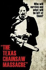 TEXAS CHAINSAW MASSACRE - LEATHERFACE POSTER - 24x36 CLASSIC HORROR 241296
