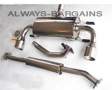 Manzo Dual Stainless Roll Tip Catback Exhaust Fits BRZ FRS FR-S GT86 ZN6 13-15