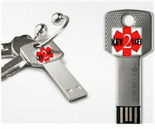 Key2Life USB KeyChain Key EHR EMR Medical Alert ID-NIB Electronic Health Records