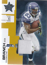 2007 Leaf Rookies & Stars Football Deion Branch Seattle Seahawks Jersey Card