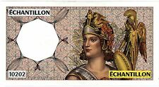 ATHENA Droite BANQUE DE FRANCE TEST NOTE ECHANTILLON 200 FRS MONTESQIEU ORIGINAL