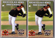 2008 Rochester Red Wings pocket schedules calendars TWO