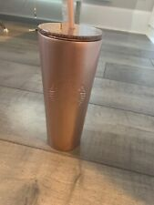 Starbucks Rose Gold Stainless Steel Cold Cup With Straw Nwt