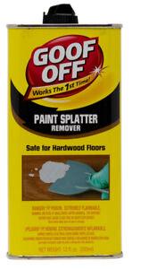 Goof off Paint Splatter Remover, 12 oz.