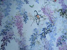 "Sanderson Curtain Fabric Design ""wisteria Falls"" 2 Metres 100 Linen Amethyst"