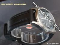 QUALITY THICK RUBBER BAND STRAP WATCHBAND TO FIT SEIKO CITIZEN DIVE  WATCH