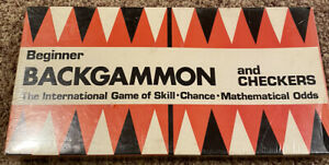 Vintage Game Beginner Backgammon And Checkers New Sealed