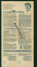 Altes Werbeblatt Mondamin mit Rezepten Backen Kuchen Frau Barbara 1950er