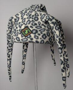 Blue Snow Leopard Print  Tentacle Fleece Ski & Outdoor Hat