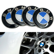 4x65mm Bmw Wheel Center Caps Blue Stickers Self Adhesive Emblem