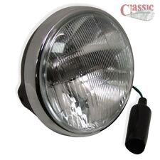 "7"" Headlight Black Shell & Chrome Rim ideal for Triumph cafe racers, bobbers"