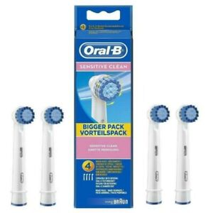 4X Oral-B Sensitive Replacement Toothbrush Heads- Pack of 4- Brand New & Sealed