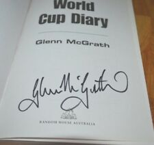 Signed Autographed Glenn McGrath World Cup Diary Book 1st Edition 2003