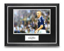 Kenny Miller Signed 16x12 Framed Photo Display Scotland Autograph Memorabilia