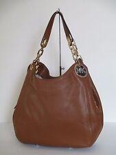 NEW Michael Kors Fulton Large Luggage Leather Shoulder Handbag